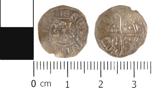 WMID-4BF0B8: Medieval coin: Halfpenny of Edward III