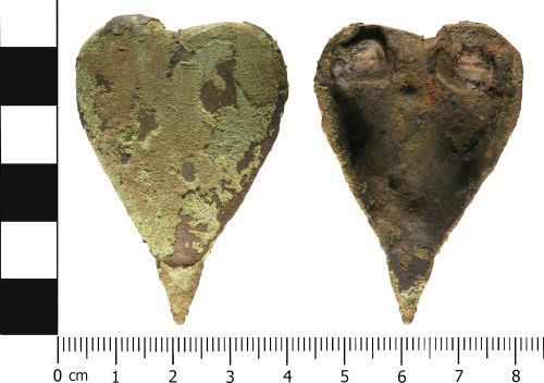 WMID-4EAD44: WMID-4EAD44: Post Medieval to Modern: Heart shaped probable brooch