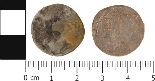 WMID-524D34: Post Medieval coin: Clipped shilling of Charles I