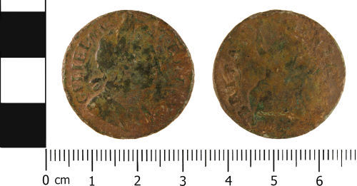 WMID-6C9A97: Post Medieval coin: Half penny of William III