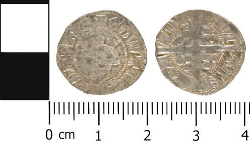 WMID-6D2483: Medieval coin: Penny of Edward II, class 11b-13