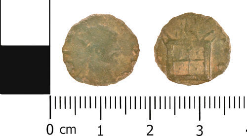 WMID-6DDBB1: Roman coin: Complete contemporary copy (barbarous) radiate of the Divus Claudius issue