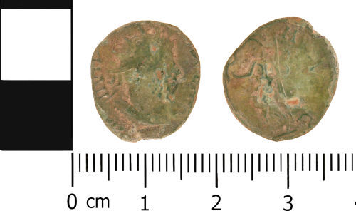 WMID-6E1BD7: Roman coin: Incomplete radiate, probably of Victorinus