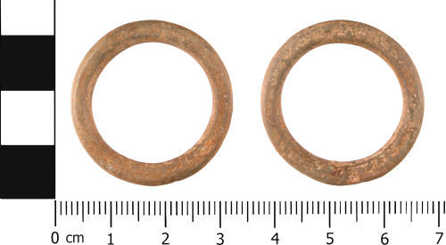 WMID-70B165: Post Medieval: Complete curtain fitting or ring