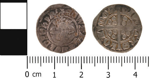 WMID-85EAF2: WMID-85EAF2: Medieval coin: Penny of Edward III, class 15d