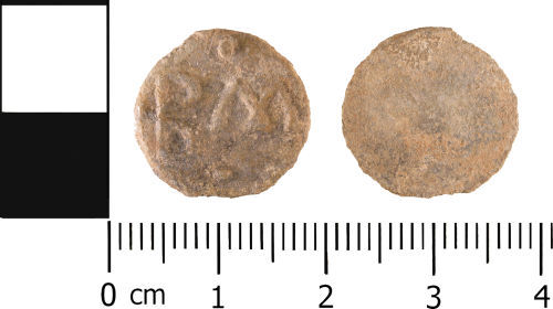 WMID-873C80: Medieval to Post Medieval: Lead unifaced token