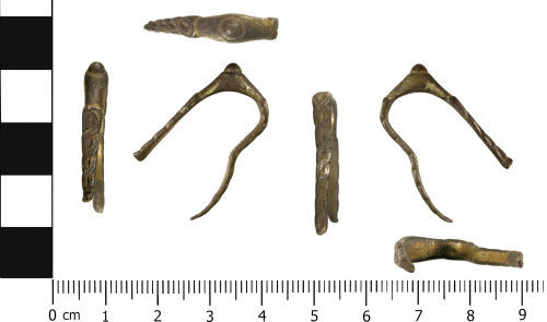 WMID-8E567B: Medieval: Incomplete stirrup finger ring