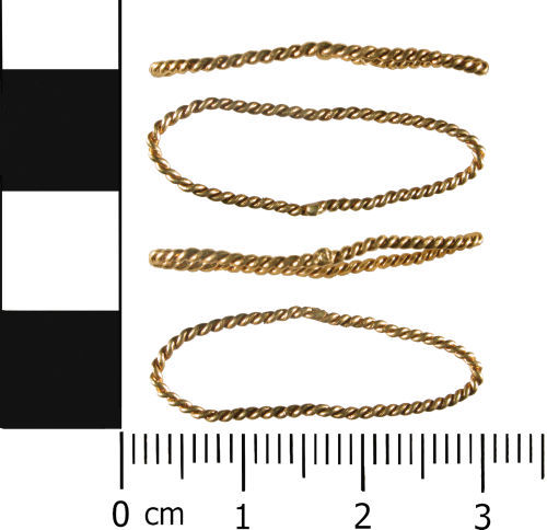 WMID-8F92E5: Post Medieval to Modern: Twisted gold ring, probable finger ring