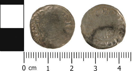 WMID-8FA795: WMID-8FA795: Medieval coin: Penny of John, probably minted in Exeter by moneyer Gileberd