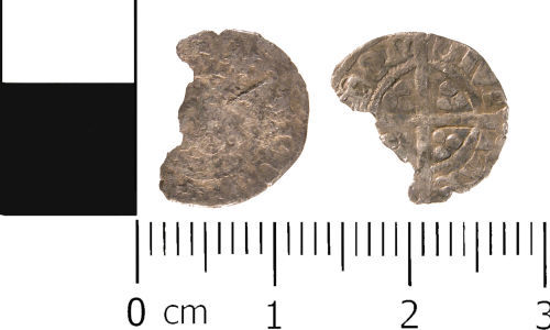 WMID-914373: Medieval coin: Incomplete half penny, probably of Edward IV
