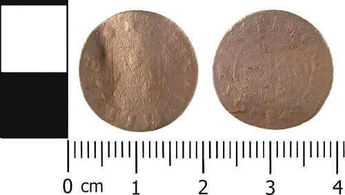 WMID-A4D5A7: Post Medieval: Trader's Token issued by John Phillips in 1665