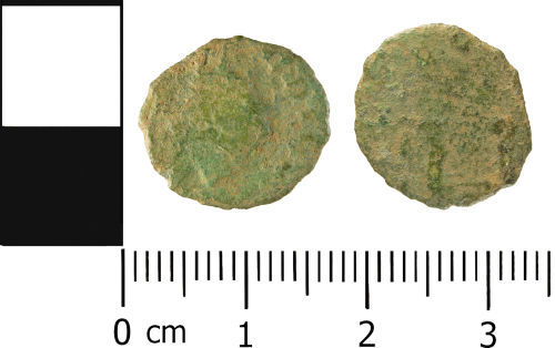 WMID-BBE813: Roman coin: Incomplete contemporary copy of a radiate of Claudius II