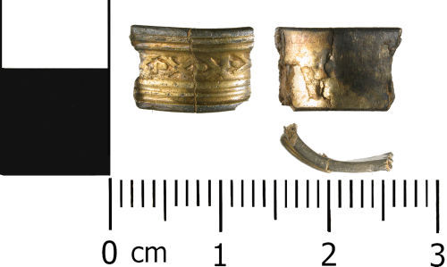 WMID-D26B47: Early Post Medieval: Silver gilt finger ring