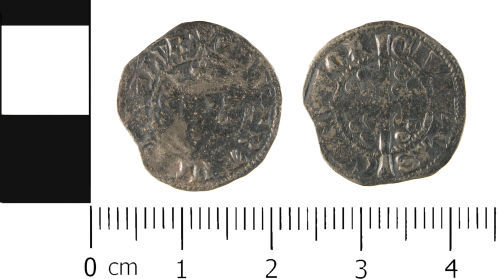 WMID-D84894: Medieval coin: Penny of Edward II, Canterbury Mint