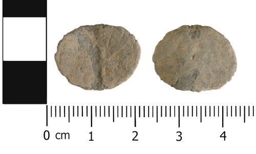 A resized image of Medieval to Post medieval: Incomplete unifaced lead token