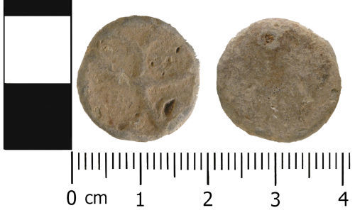 WMID-D882F6: Medieval to Post medieval: Complete unifaced lead token