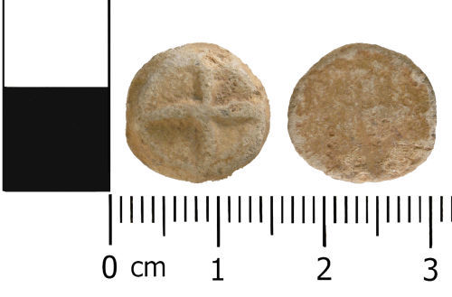 A resized image of Medieval to Post medieval: Complete unifaced lead token
