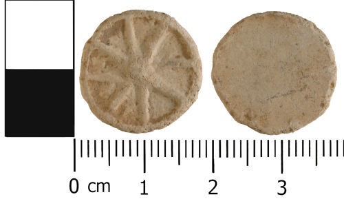 WMID-D90488: Medieval to Post medieval: Complete unifaced lead token
