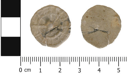 WMID-D9FD7F: Medieval to Post medieval: Complete unifaced lead token
