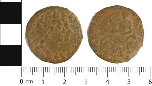 WMID-E47AD2: Post medieval coin: Half penny of William III and Mary II