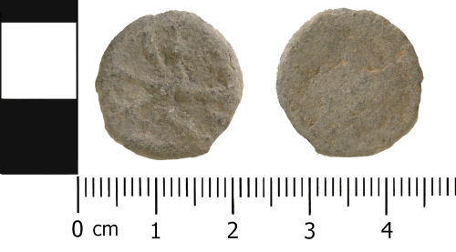 WMID-FA3AA7: Medieval to Post medieval: Complete unifaced lead token