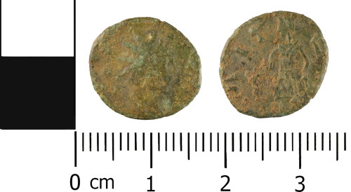 WMID-0830E6: Roman coin: Contemporary (barbarous) copy of a radiate of uncertain emperor