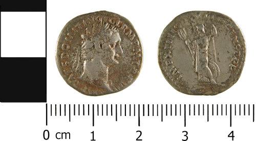 WMID-0F7A07: Roman coin: Denarius of Domitian