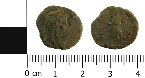 WMID-1BF657: Roman coin: Nummus of House of Valentinian