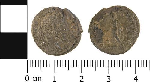 WMID-280AD6: Roman coin: Complete denarius of Septimus Severus