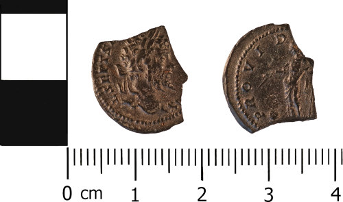 WMID-29EF0E: Roman coin: Incomplete denarius of Septimus Severus