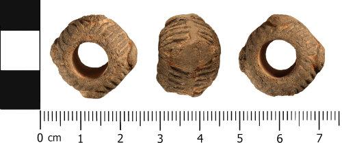 WMID-32EF74: Medieval: Complete biconvex spindle whorl