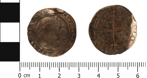 WMID-45934A: Post medieval coin: Sixpence of Elizabeth I, Tower mint