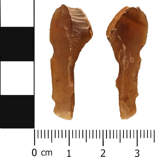 WMID-46C7A2: Late Neolithic to Early Bronze Age: Hollow scraper