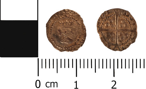 WMID-4F74F5: Post medieval coin: Halfpenny of Henry VIII