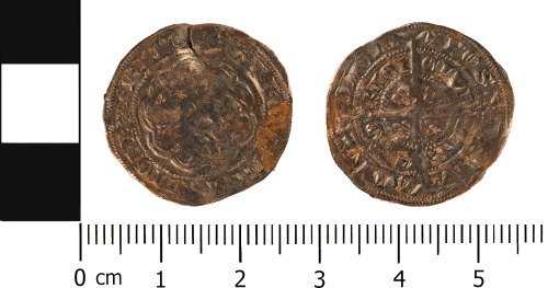 WMID-5A5AB7: Medieval Coin: Half groat of Edward III, York Mint