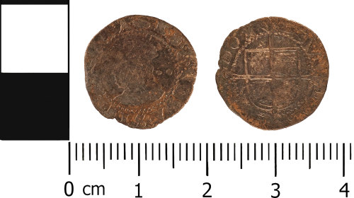 A resized image of Post Medieval: Half groat of Elizabeth I