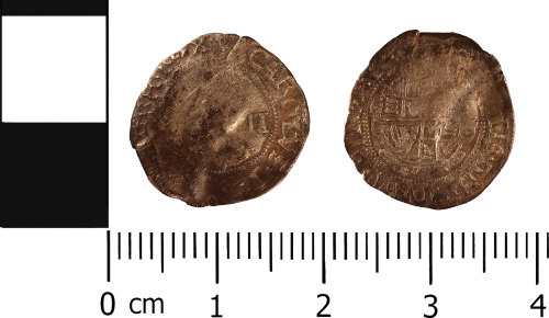 WMID-6523B2: Post Medieval coin: Half groat of Charles I