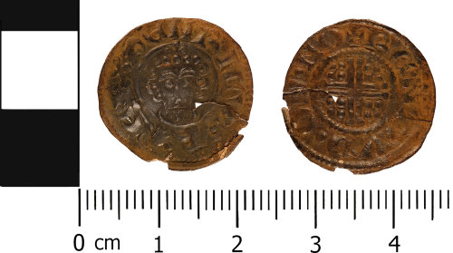 WMID-656A87: Medieval coin: Penny of John, Norwich mint