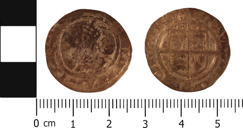 WMID-658C47: Post medieval coin: Sixpence of Elizabeth I