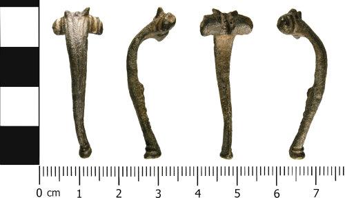 WMID-6C6434: Roman: Incomplete headstud brooch