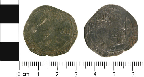 WMID-6D3C17: Post medieval coin: Shilling of Charles I