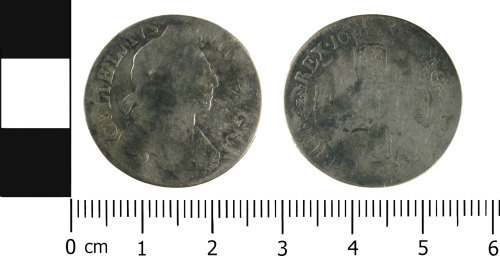 WMID-74FE73: Post Medieval coin: Shilling of William III