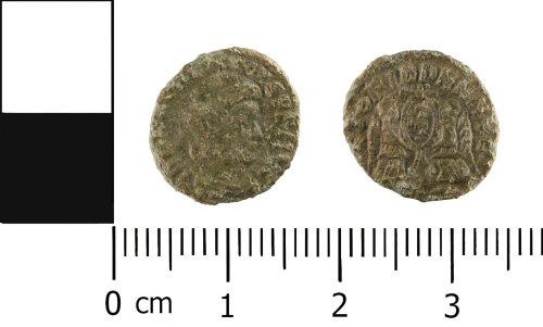 WMID-896ACE: Roman coin: Nummus of Constantius Gallus