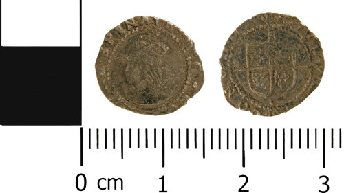 WMID-9115A8: Post medieval coin: Penny of Elizabeth I