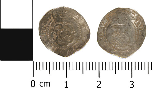 WMID-91D203: Post Medieval coin: Half groat of James I