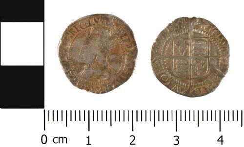 WMID-921986: Post Medieval: Complete half groat of Elizabeth I