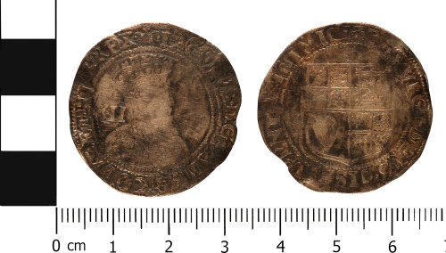 WMID-96BB51: Post medieval coin: Shilling of James I