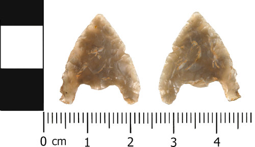 WMID-999E8D: Late Neolithic to Early Bronze Age: Incomplete barbed and tanged arrowhead