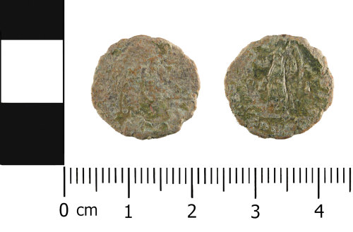 WMID-9A1CD1: Roman coin: Nummus of House of Valentinian