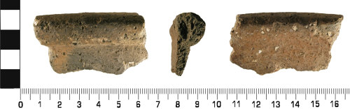 WMID-9A8FE8: Medieval: Incomplete ceramic cooking pot vessel